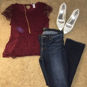 Burgundy / Maroon top